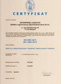 Certyfikat ISO - jakość i środowisko