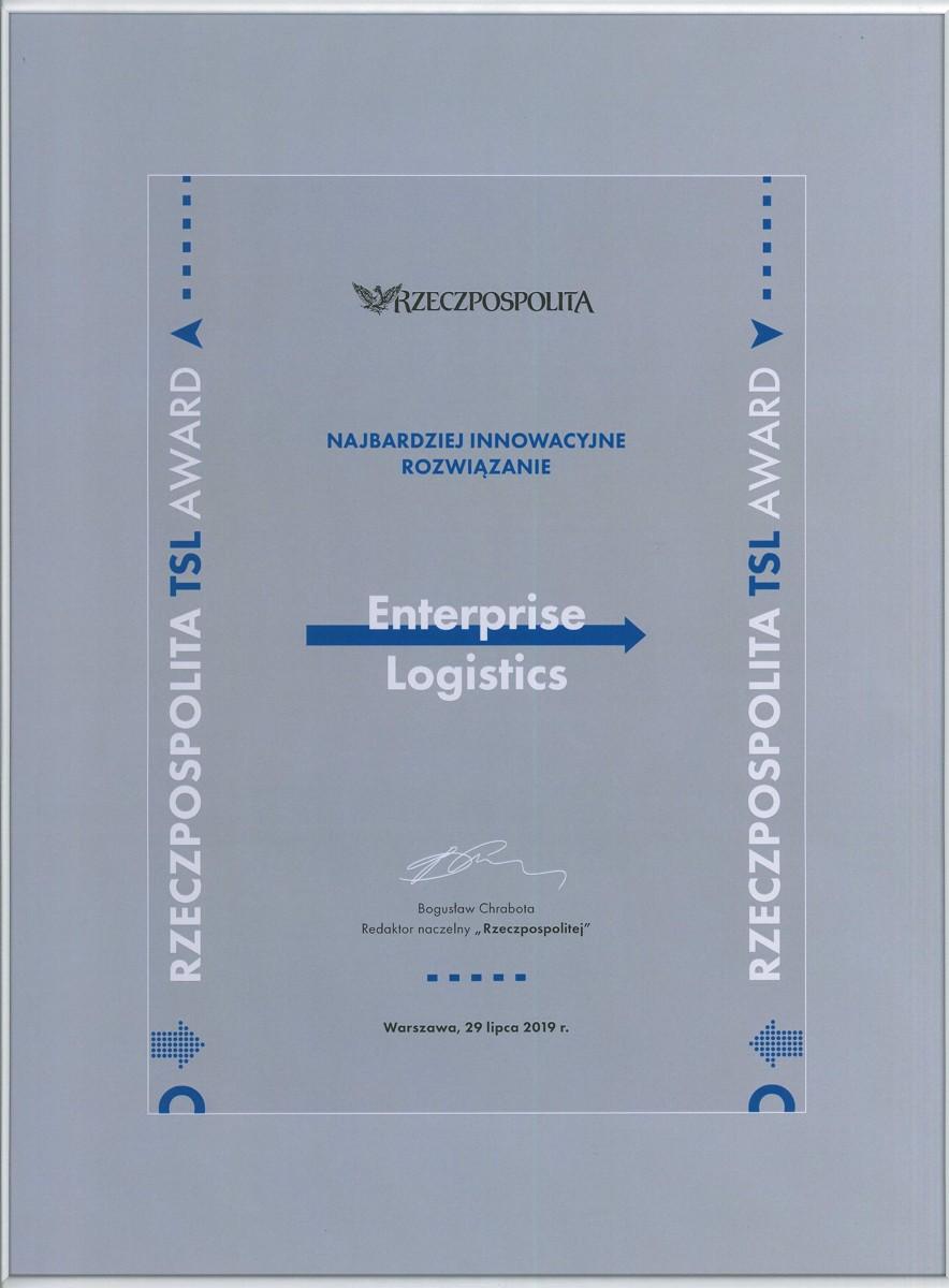 Enterprise Logistics uhonorowana nagrodą Rzeczpospolita TSL Award